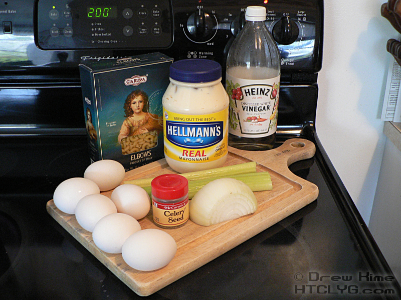 How to make old fashioned macaroni salad how to cook like your three tablespoons white vinegar one teaspoon celery seed 4 6 large hard boiled eggs see note on presentation ccuart Choice Image