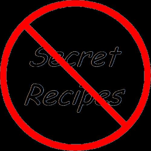 Buy secret recipes menu