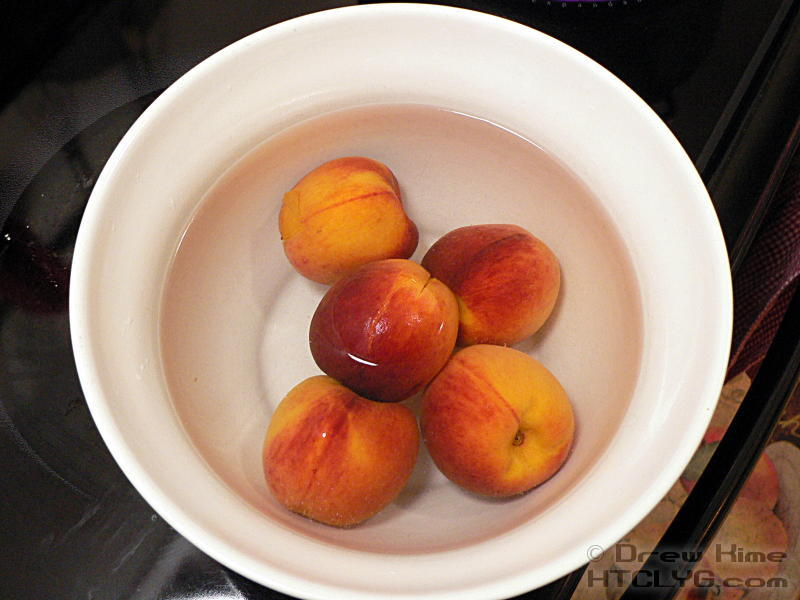 how to get peel off peaches