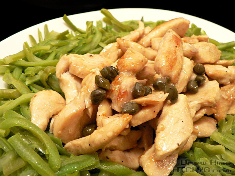 Chicken with Lemon and White Wine Sauce