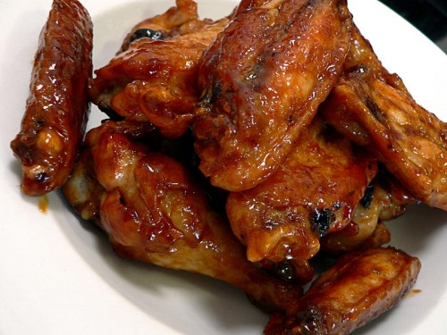 Take-out style wings