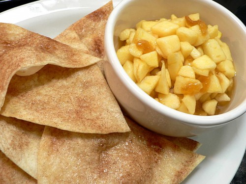 Apple Pie Dip with Cinnamon Sugar Chips