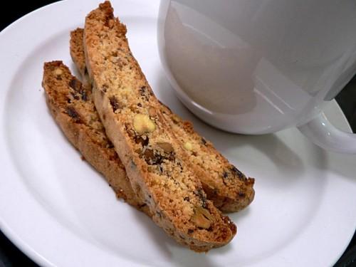 Pistachio Date Biscotti