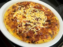 How To Make Quiche In A Pan AKA Mega-omelet